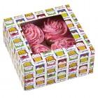 Cupcakekartong med cupcakemönster, 4 hål