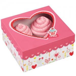 Cupcakekartonger hjärtan, 3 st