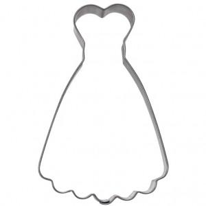 Pepparkaksform, brudklänning