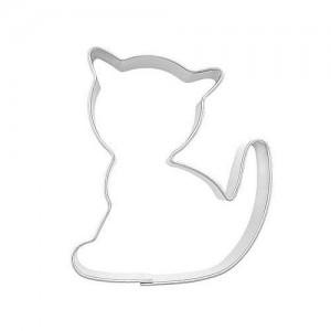 Pepparkaksform, sittande katt