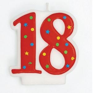 Tårtljus, nr 18