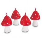 Tårtljus - flugsvampar