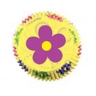 Minimuffinsformar, gula med blommor