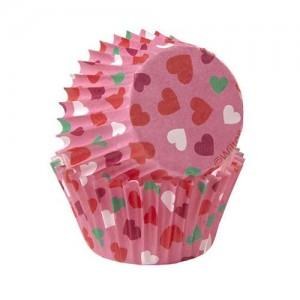 Minimuffinsformar, små hjärtan