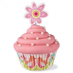 Muffinsformar med dekorationer - fåglar & blommor