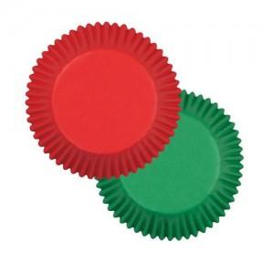 Muffinsformar, röda och gröna