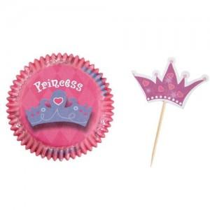 Muffinsformar med dekorationer - prinsesskronor