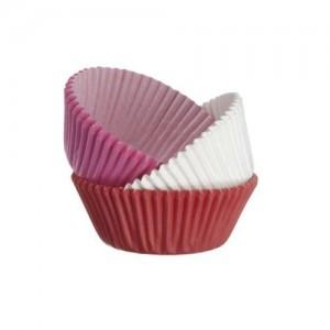 Muffinsformar röda, vita & rosa