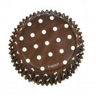 Muffinsformar, bruna med prickar