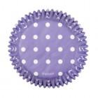 Muffinsformar, lila med prickar