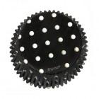 Muffinsformar, svarta med prickar