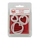 Utstickare - hjärtan, 3 st (FMM)